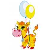 stickere copii Vaca Balon